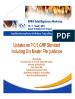 Updates on PIC/S GMP Standard