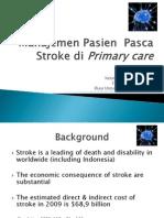 Dr. Riki Sukiandra Manajemen Pasien Pasca Stroke Di Primary Care