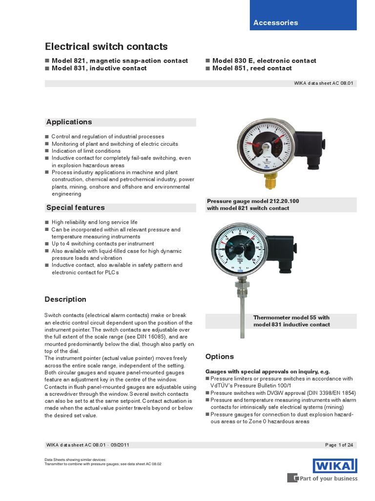Manometru Cu Contact 1 Switch Relay Reed Protection Diagram