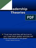 Goolsby Leadership Theories