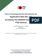 An 121 Ftdi Device Eeprom User Area Usage