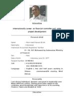 Cv International Financial and Sales Development