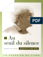 Au Seuil Du Silence - Jiddu Krishnamurti