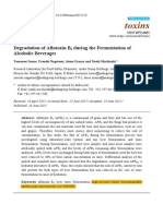 Degradation of Aflatoxin B1 During the Fermentation of Alcoholic Beverages
