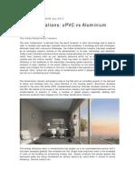 UPVC Versus Aluminium - Construction Insights