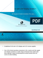 High Resolution Indoor & Outdoor LED Display Screens - Di Impex