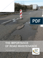 Importance of Road Maintenance