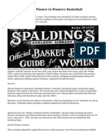 Senda Berenson, a Pioneer in Women's Basketball