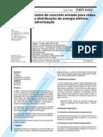 NBR 08452 - 1998 - Postes de Concreto Armado Para Redes de D