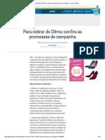 Para Cobrar de Dilma_ Confira as Promessas de Campanha - Jornal O Globo
