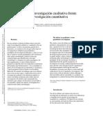 El debate investigación cualitativa frente a investigación cuantitativa