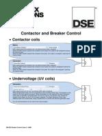Contactor Breaker Control DSE