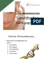 Mémorisation 5 méthodes