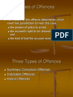 criminal courts offences review and awaiting trial