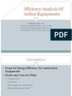 Energy Efficiency Analysis of Construction Equipment