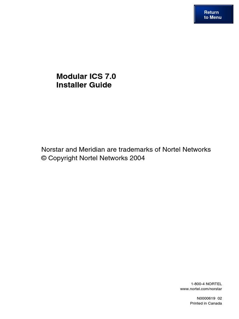 norstar meridian mics 70 installation manual nortel programming rh scribd com Car Audio Installation Guide Post Operating System Installation