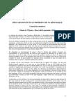 Déclaration du Président de la République sur la réforme des retraites - 08/09/2010