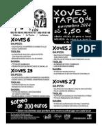 XOVES DE TAPEO NOVEMBRO VIVEIRO