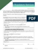 US FDA Voluntary Cosmetic Registration Form_Qpro Regulatory Services