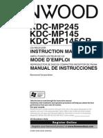 Manual Radio CD kdcmp145