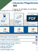 MDK Qualitätsprüfungsbericht 2014 - Ambulanter Pflegedienst Augsburg - Olga & Team GmbH