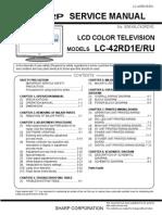 SHARP LC-42RD1E Service Manual