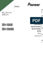 Manual Pioneer DEH-1550UB