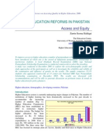 Higher Education Reforms in Pakistan_ Access and Equity
