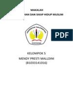 Makalah Agama Korelasi iman dan hidup muslim