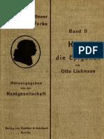 Liebmann_Kant Und Die Epigonen Eine Kritische Abhandlung (1912)