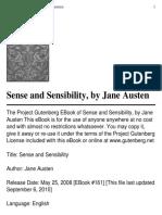 Austen Jane Sense and Sesebility
