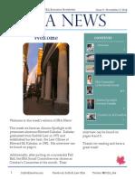 SBA Newsletter 9 - 11/3/14