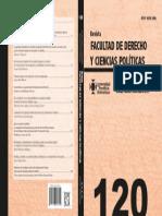 Revista Derecho 120 (Capa)