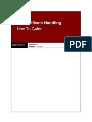 AS2 Certificate Handling - How To in SAP PI | Public Key Certificate