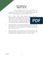 Study Questions 3 Romans 1.18-32