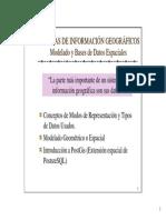 SISTEMAS DE INFORMACION GEOGRAFICOS - Modelo y Bases de Datos Espaciales