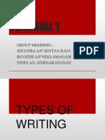 Tutorial 1 Writing