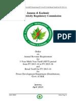 J&K Tariff 2013-14