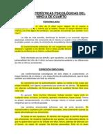 Características Psicológicas Del Niño_a de Cuarto