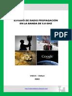 Estudio de Radio Propagacion en La banda de 5.8 Ghz
