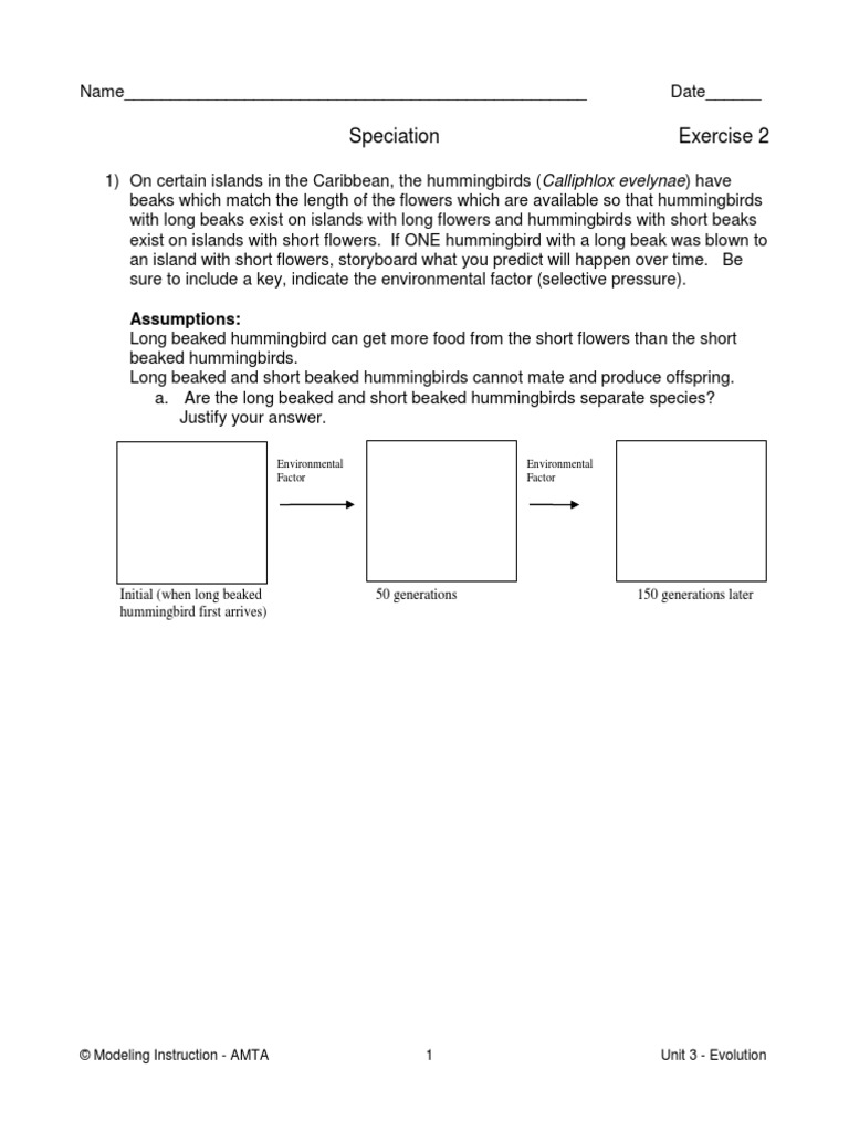 worksheet Oompa Loompa Genetics Worksheet Answer Key 06a exercise 2 evolution speciation species