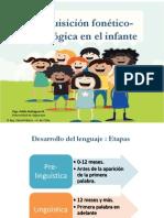 3. Adquisición Fonético-fonológica en El Infante