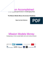 MMM Governance Roadshow Report With Recommendations