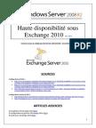 DAG et haute disponibilité sous Exchange 2010 (tuto de A à Z)