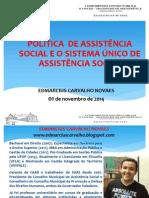 I CONGEP - Política de Assistência Social e o Sistema Unico de Assistência Social