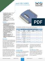 USB 1208 Series 1408FS Data