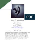 Kyra C.K Scuba Diving CV