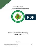 J&K SERC Supply Code Regulation 2011