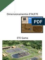 Dimensionamentos ETA
