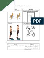 Ejercicios y Elongaciones Según Músculo